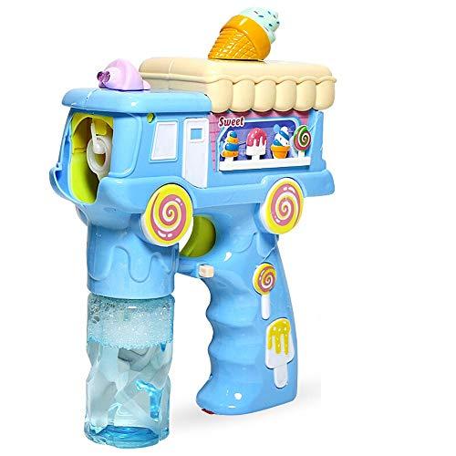 - Zpzzy Fun Childhood Bubble Gun Children Electric Blow Bubble Machine Toy Summer Gift Gift Enlightenment Puzzle Fitness Ice Cream Bubble Gun - Blue Pink (Color : Blue)