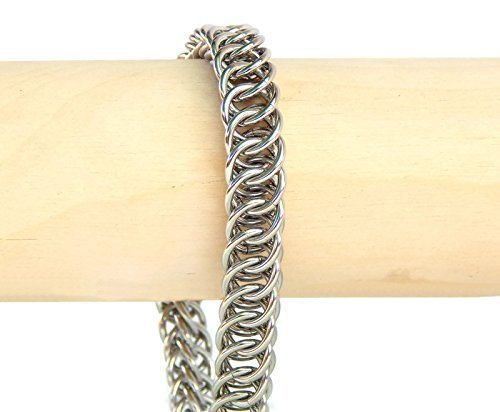 [Stainless Steel Mens Bracelet, Handmade in USA by ChainMettle Jewelry (Custom Size, with Gift Box)] (Creative Costume Ideas For Men)