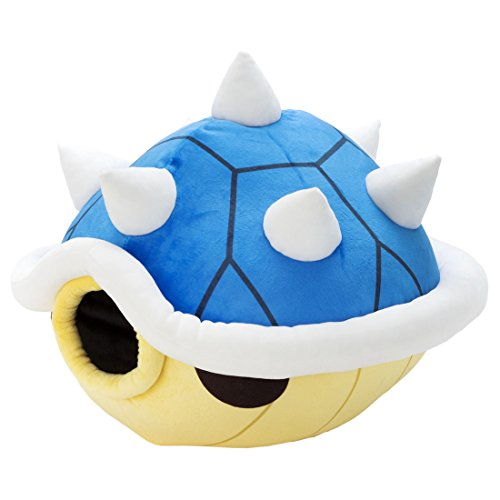 (Takaratomy Super Mario Kart Mocchi-Mocchi Large Spiny Sky-Blue Shell Plush Stuffed Plush,)