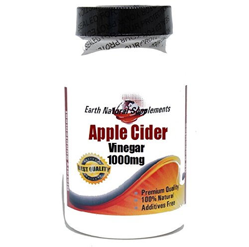 Apple Cider Vinegar 1000mg * 200 Capsules 100 % Natural - by EarhNaturalSupplements