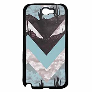 Cactus Chevron Design Plastic Phone Case Back Cover Samsung Galaxy Note II 2 N7100