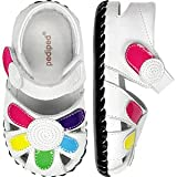 Baby : pediped Originals Daisy Sandal (Infant),White Multi,Small (6-12 Months)