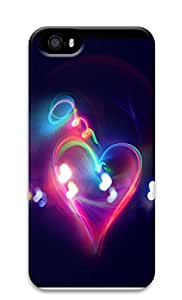 iPhone 5 5S Case Halo Light Heart 3D Custom iPhone 5 5S Case Cover
