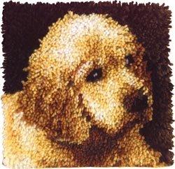 Bulk Buy: Caron Wonderart (2-Pack) Latch Hook Kit 12in. x 12in. Puppy Love 426132C