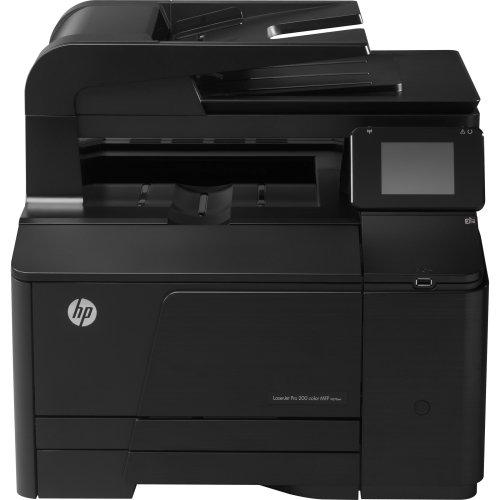 HP LaserJet Pro 200 M276NW Laser Multifunction Printer - Color - Plain Paper Print - Desktop - Copier/Fax/Printer/Scanner - 14 ppm Mono/14 ppm Color Print - 14 ppm Mono/14 ppm Color Print (ISO) - 600 x 600 dpi Print - 14 cpm Mono/14 cpm Color Copy - Touchscreen - 1200 dpi Optical Scan - Manual Duplex Print - 150 sheets Input - Fast Ethernet - Wireless LAN - USB