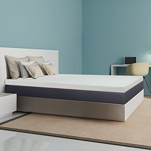 (Best Price Mattress 4-Inch Memory Foam Mattress Topper, Queen)