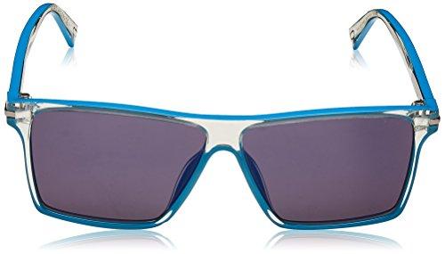 Marc Jacobs lunettes de soleil carrés contemporains dans azure de cristal MARC 222/S RHB 58 Blue Mirror Crystal Azure