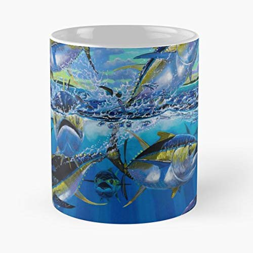 Tuna Yellowfin Fish Fishing -funny Present For My Greatest Boss Male Or Female, Men, Women, Great Office Gift Mugs, Birthday, Leaving, Bold, Cup, 11 Oz