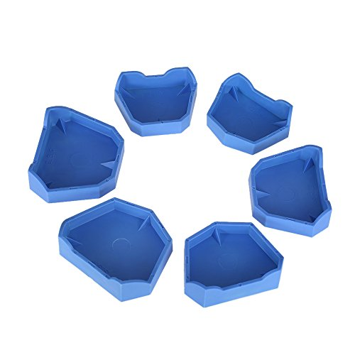 Anself 6pcs Dental Model Base Set Dental Lab Former Base Kit Dental Mold Plaster Base (Dental Base Cast Former)