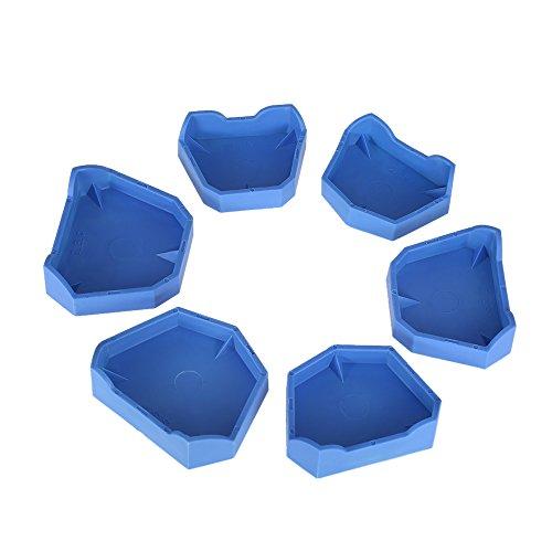 Anself 6pcs Dental Model Base Set Dental Lab Former Base Kit Dental Mold Plaster Base