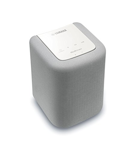 Yamaha MusicCast WX-010 Wireless Speaker with Bluetooth (White), Works with Alexa - Classical Yamaha Stand