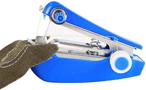 Máquinas de Coser Mini portátil Manual de la máquina de Coser fácil operación Herramientas Tela del paño práctico de la Costura DIY MDYHJDHYQ (Color : Azul, Size : 1): Amazon.es: Hogar