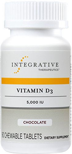 Integrative Therapeutics - Vitamin D3 5,000 IU - Immune System and Bone Support - Chocolate Flavor - 90 Chewable Tablets