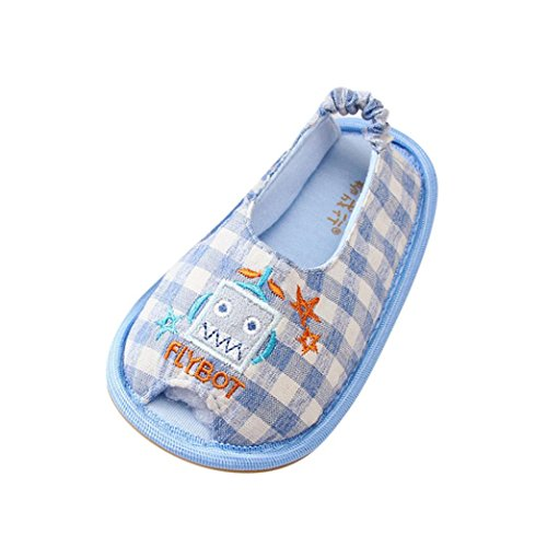 Baby schuhe, Sunnyoyo Nette 1-6 Jahre alt Kind Baby Mädchen Jungen Weiche Gitter Cartoon Design Loafer Hausschuhe Hausschuhe Blau