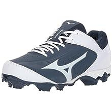 Mizuno Women's 9-Spike Advanced Finch Elite 3 Fastpitch Cleat Softball Shoe, Navy/White, 5.5 B US