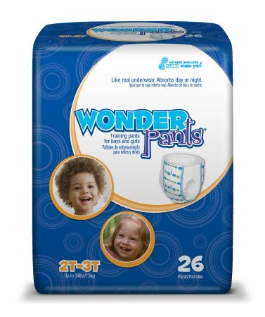 16673100 Toddler Training Pants WonderPants Pull On 2T - 3T Disposable Heavy Absorbency