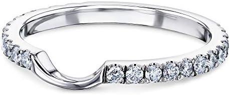 Kobelli 1/3ct.tw Diamond Notched Wedding Band 14k Gold