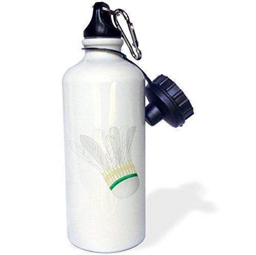 Wild Bramble Big White Badminton Shuttlecock Sports Water Bottle 21 Oz Twin Sides