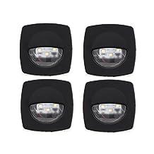 Marine Courtesy Light Interior 12V LED Black for Boat, Caravan & Rv - 4 units set - Five Oceans BC-3997