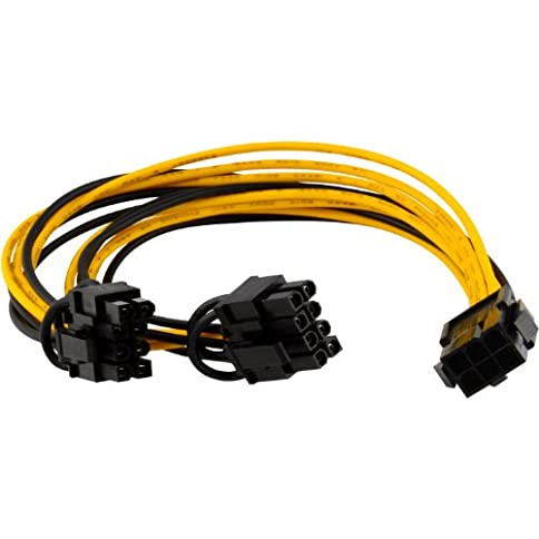 - 41tx11VxAiL - JacobsParts PCI Express Power Splitter Cable to 2x 6+2-pin (6-pin/8-pin) 18 AWG