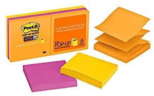 Post-it Super Sticky Pop-up Notes Rio de Janeiro, 76x76mm R330-6SSUC (Pack of 6)