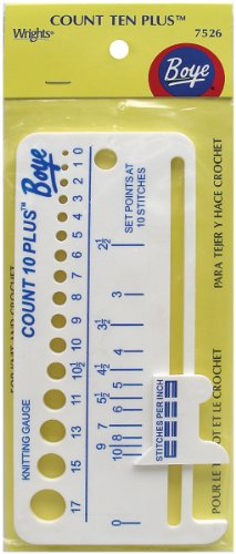 - Boye 7526 Count Ten Plus Plastic Knit Gauge