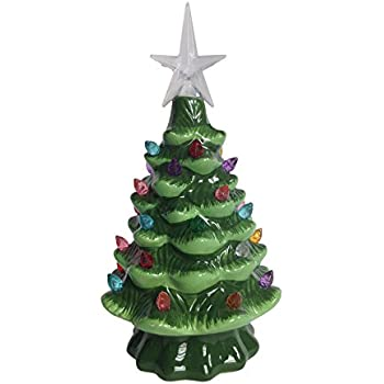 lighted tabletop ceramic tree with led bulb small 7