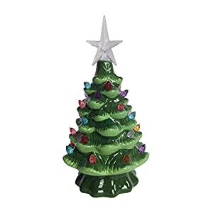 pinkada Lighted Tabletop Ceramic Tree with LED Bulb 64