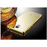 Taslar Luxury Mirror Metal Series Bumper Back Cover Case For Xioami Redmi Note 4G & Redmi Note Prime (Gold)