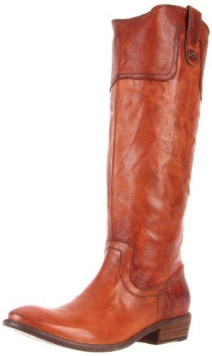 FRYE Women's Carson Riding Button Boot, Cognac Antique Soft Full Grain, 7.5 M US (Frye Carson Lug Riding Boot Emily Maynard)