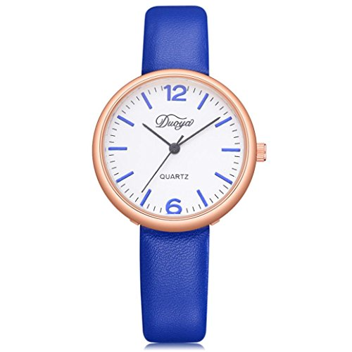 BEUU Hot Sale Men'S Ladies Simple Watches Fashion Women Men Couple Watch Rounded Analog Pointer Quartz Wrist Watch (Blue) (Pointer Watch Wrist Woman)