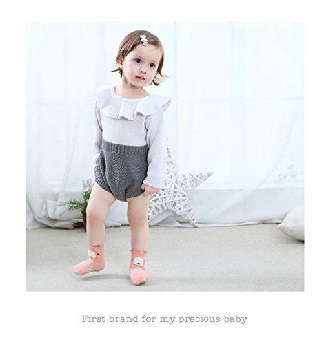 Baby Toddler Boys Girls Socks, Kids Anti Slip Cartoon Animal 6 Pairs Cotton Stockings (0-2 Years) by NUZIKU (Image #4)