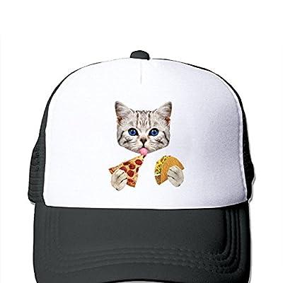 JingleZ Grumpy Cat Loves Pizza Taco Funny Cute Trucker Mesh Adjustbale Baseball Hat Cap