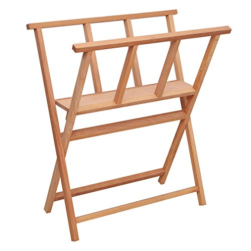 SELECTION X-Frame Folding Wood Large Art Print Rack for Storages & (Print Stand)