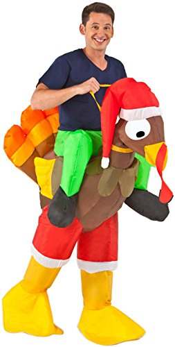 Inflatable Rider Turkey Adult Costume