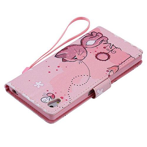 PU Xperia Z5funda Flip cover de piel para Sony Xperia Z5Flip Cover Funda Libro Con Tarjetero Función Atril magnético + Polvo Conector morado 7 5