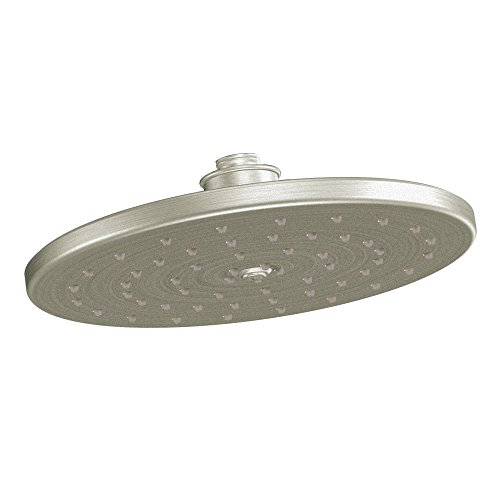 (Moen Waterhill One-Function 10-Inch Diameter Rainshower Showerhead, Brushed Nickel)