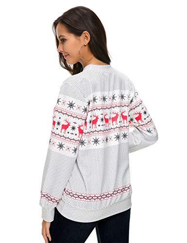 1 Longues Tee Shirt Grande Feelingirl Manches S Noel Taille Femme De Pull 3xl CznCBwx7qa
