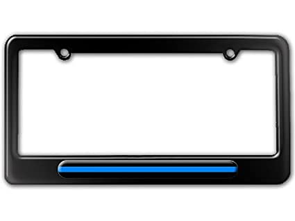 Amazon.com: Thin Blue Line - Police License Plate Tag Frame - Color ...