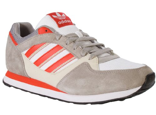 Adidas ZX 100 Shoes- Running White/Red Bliss (11.5)