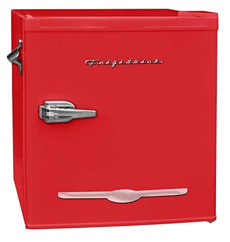 FRIGIDAIRE EFR176-RED 1.6 cu. ft. Retro Bar Fridge with Side Bottle Opener, Red