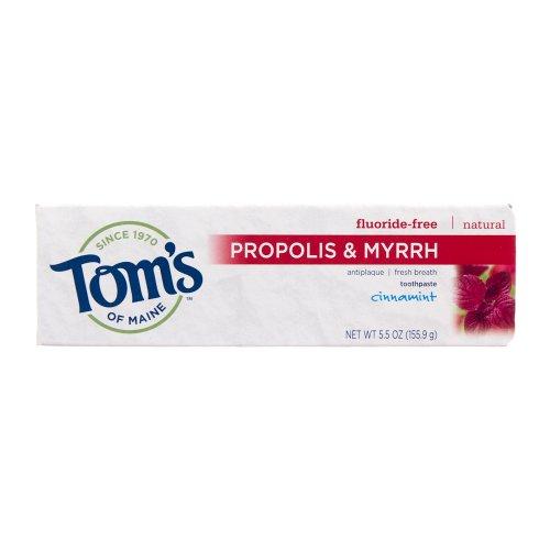 Том Мэн прополиса и мирры природного фторида Free зубная паста, Cinnamint 5,5 унции