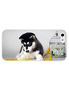3d Full Wrap Case for iPhone 5/5s Animal Husky46