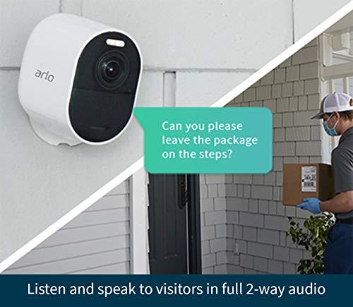 Arlo Ultra 2 Spotlight Camera - 2 Camera Security System - Wireless, 4K Video & HDR, Color Night Vision, 2 Way Audio…
