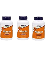 Niacin, 500Mg, 100 Caps by Now Foods (Pack of 3)