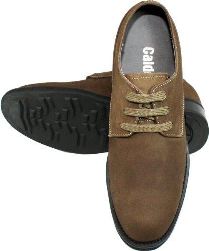 Calden-k291022-9,1cm Grande Taille-Hauteur Augmenter Ascenseur shoes-brown en daim à lacets