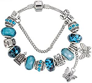 Fashion design butterfly tassel pendant bracelet DIY owl purse crown pendant Large bead bracelet Alloy diamond bracelet bracelet with bracelet-20CM