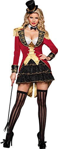 InCharacter Costumes Women's Big Top Tease Burlesque Costume, Red/Black/Gold, X-Small