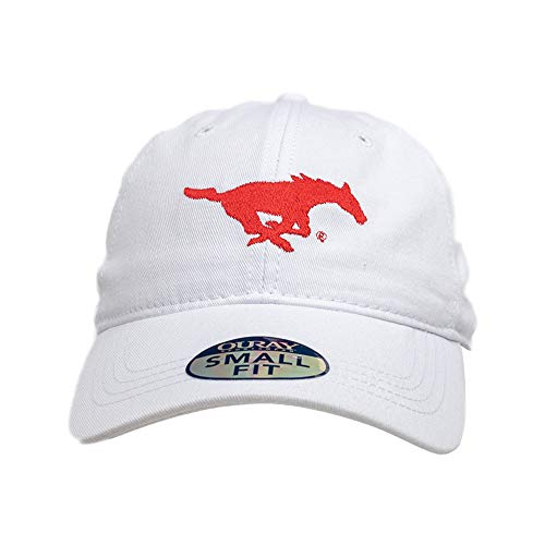 Ouray Sportswear NCAA SMU Mustangs Women's Small Fit Epic Cap, Adjustable, White