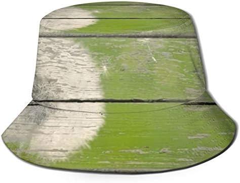 Junkai 木製ボード 背景 タンポポ バケットハット 男女兼用帽子 UV 翼幅広 紫外線対策 日よけ 小顔効果